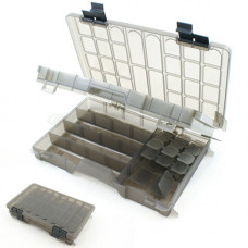 TWO TIER LARGE CLEAR TACKLE BOX (D002)