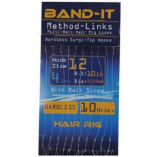 Band It Hair Rig Method Links Size 12 (BAN129)