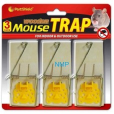 PestShield Mouse traps 3 Pack cheese Wood