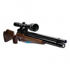 Webley Raider 12 Quantum PCP Pre Charged Air Rifle, Ambi-Dextrous Wooden Stock 11.5 ft /lbs .177 calibre 14 shot Fitted with Quantum Silencer