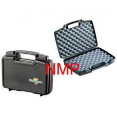 Flambeau Hard Pistol Case Small 10.5 inch x 8 inch x 3.13 inch Black with sliding lockable latches and full egg shell foam (1011)