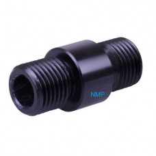 1/2 inch UNF male to 1/2 inch UNF male airgun silencer Adaptors to fit Brocock Atomic, Air Arms TX200HC, S510 & others Black Alloy Made in UK (AGM ADD 24)